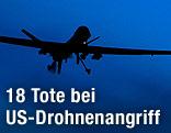 US Drohne am Himmel