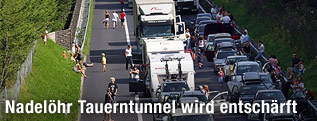 Stau vor dem Tauerntunnel