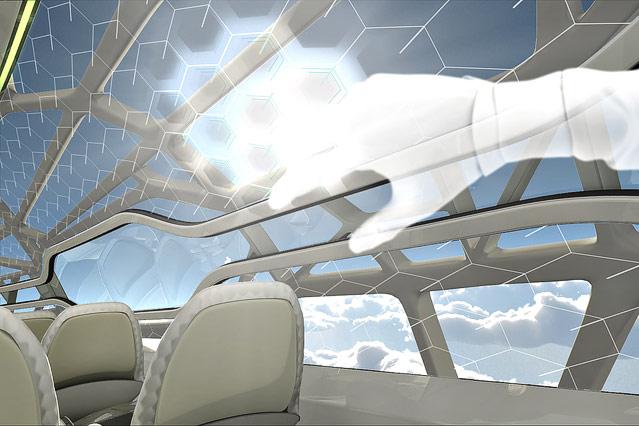 Computergrafik eines zukünftigen Flugzeugs von Airbus