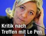 Vorsitzende der französischen Front Nationals Marine Le Pen