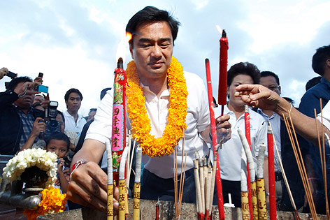 Thailands Premierminister Abhisit Vejjajiva