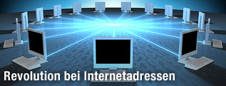 Mehrere Computer sind miteinander vernetzt (Illustration)