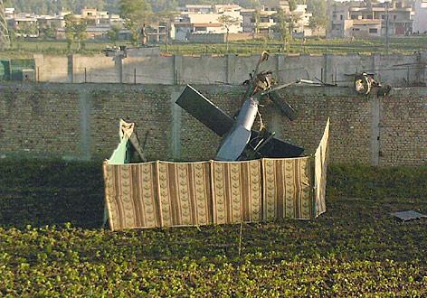 Teil des bei der Tötung Bin Ladens abgestürzten US-Helikopters