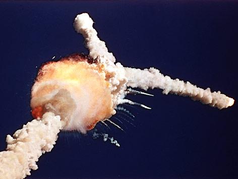 Explosion des Spaceshuttles Challenger