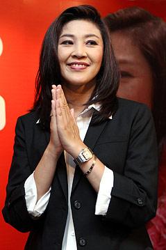 Pheu Thai Spitzenkandidatin Yingluck Shinawatra