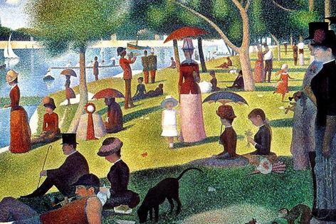 """Georges Seurat Bild """"Ein Sonntagnachmittag auf der Insel Grand Jatte"""""""