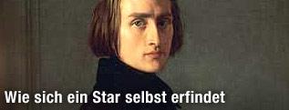 Gemälde des jungen Franz Liszt