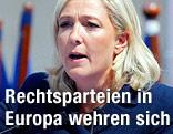 Die Vorsitzende der französischen Rechtspartei Front National Marine Le Pen