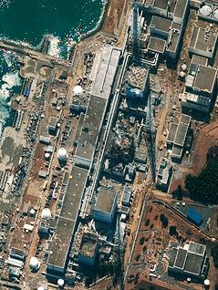 Satellitenbild des AKW Fukushima vom 17. März 2011