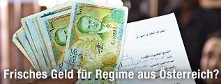 Syrische Geldscheine