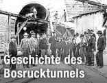 Historische Aufnahme des Bosruck-Tunnelportals aus dem Jahr 1904