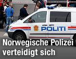 Norwegisches Polizeiauto
