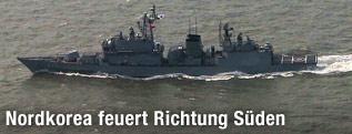 Südkoreanische Kriegsschiffe