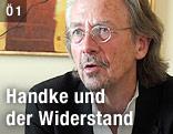 Der Schriftsteller Peter Handke im interview
