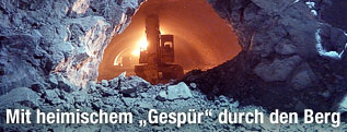 Bauarbeiten im Bosrucktunnel