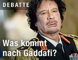 Libyens Machthaber Muammar al-Gaddafi