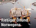 Ölplattform in Norwegen