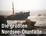 1993 auf Grund gelaufener Öltanker Braer
