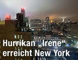 "New Yorker Skyline mit nahendem Hurrikan ""Irene"""