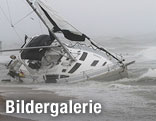 Gestrandetes Segelboot in Norfolk