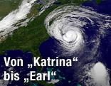 Sattelitenbild von Hurrikan Earl