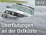 Auto überflutet