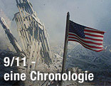 US-Flagge am Ground Zero