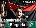 Libyscher Student demonstriert