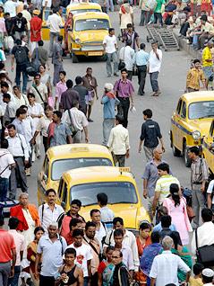 Straßenszene in Kolkata, Indien