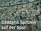 Satellitenbild des Stadtteils Suk al-Jumaa in der libyschen Hauptstadt Tripolis