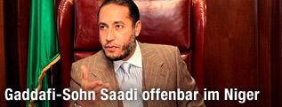 Saadi al-Gaddafi, Sohn des langjährigen libyschen Machthabers Muammar al-Gaddafi