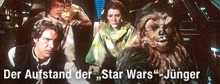 Szene in einem Raumschiff aus dem Film Star Wars - Die Rückkehr der Jediritter