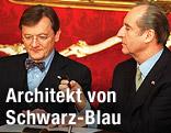 Wolfgang Schüssel und Bundespräsident Thomas Klestil