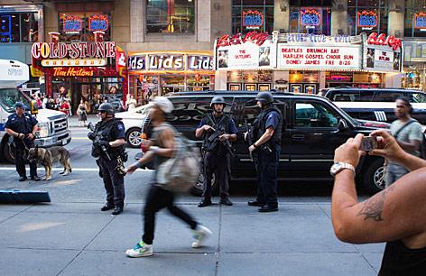 Sciherheitskräfte in New Yorks Straßen