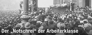 Hungerrevolte in Wien