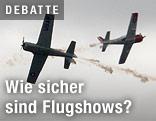 Flugzeuge bei Flugshow