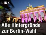 Beleuchtetes Brandenburger Tor in Berlin