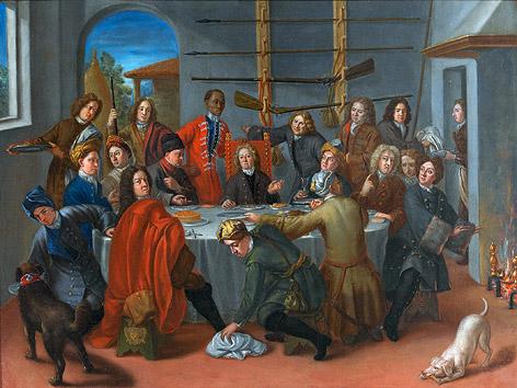 Ein Jagdbankett des Fürsten Gian Gastone de' Medici mit Angelo Soliman