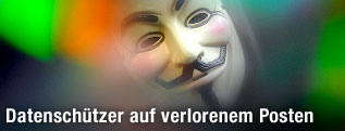 Anonymous-Illustration mit Maske