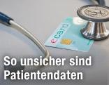 Stetoskop liegt auf einer E-card