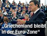 EU-Kommissionspräsident Jose Manuel Barroso hält Rede im EU-Parlament