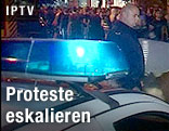 Polizei bei Demonstration