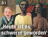 Schaustellung - Ausrufer vor Praterbude, um 1929, von Otto Rudolf Schatz