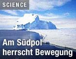 Eisschild in der Antarktis