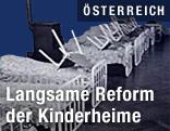 Betten im Kinderheim auf dem Wilhelminenberg