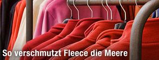 Fleecejacken auf Kleiderhaken
