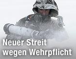 Soldat im Schnee