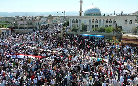 Demonstration gegen das Assad-Regime