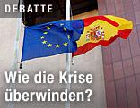 EU- und Spanienflagge
