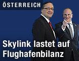 Flughafen-Vorstände Günther Ofner und Julian Jäger
